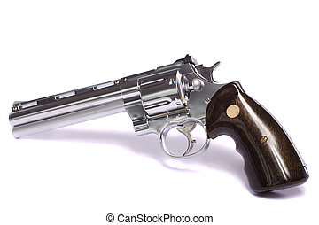 airsoft gun in white - Close up view of a airsoft gun...