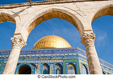 Dome of the Rock -Jerusalem - Dome of the Rock. Temple...