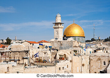 Dome - Jerusalem - Israel - View from the old city of...