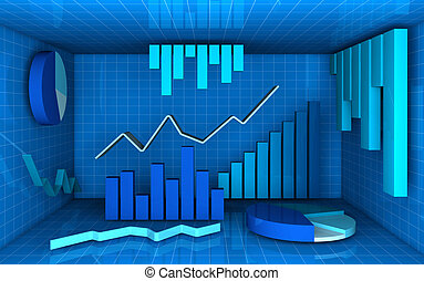 analysis and statistics - several charts in different style...