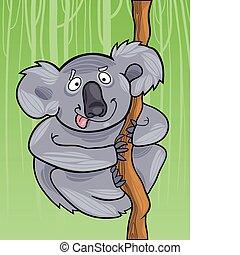 cartoon koala - cartoon illustration of funny australian...