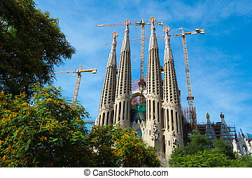 Sagrada Familia, Barcelona - Sagrada Familia temple in...