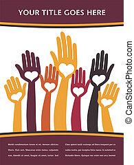 Loving hand design. - Loving hand design vector.