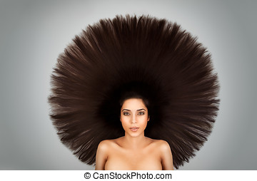 big round hair - afro hairdo interpretation on a sexy...
