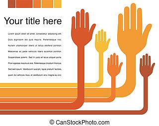 Hand design vector.
