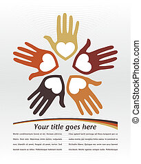 United loving hands design.