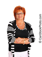 Mature woman - A portrait of a mature woman smiling over...
