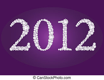 Vector illustration of diamond 2012 - Vector illustration of...