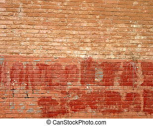vintage wall, red brick, construction