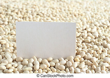 Raw navy beans haricot beans, Boston beans, pea beans,...