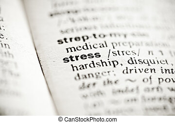 'Stress' - dictionary definition vignette - Dictionary...