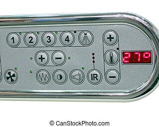 bathroom control panel, temperature - bathroom control...
