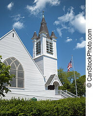 New England church located in a small Cape Cod town