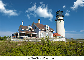 Truro lighthouse located in Truro on cape cod, massachusetts