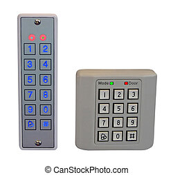 pass control panel, plastic box, home security, safety - two...