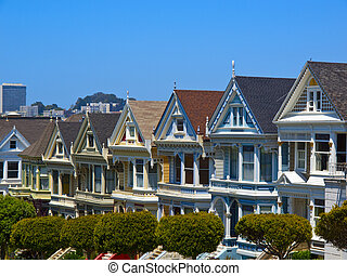 Painted Ladies of San Francisco - Famous Victorian row...