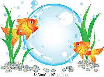 Goldfish advertisement - Fun cartoon goldfish advertisement...