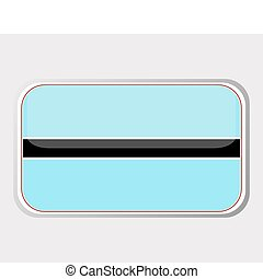 Flag of botswana in the form. vector