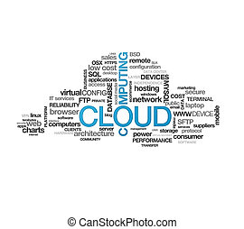 Cloud Computing - High resolution graphic of a cloud...