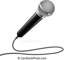 Microphone for Karaoke Illustration on white background