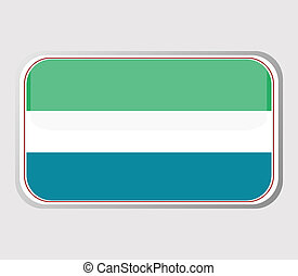Flag of sierra leone in the form . vector