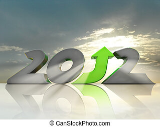 Positive 2012 - Business growth in 2012. Message of hope and...