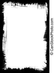 Brush-Stroke Frame - A black brushstroke frame on a white...