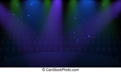 Stage Lights Loop - HD - Colorful follow spot lights...