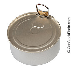 Food tin can isolated with clipping path included