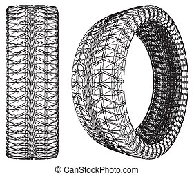 Abstract Car Wheel Tire