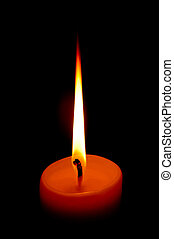 candle illuminating the darkness