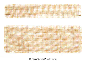 Set of sackcloth tags. Burlap. Canva - set of sackcloth tags...
