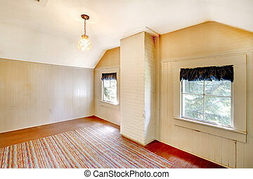 Very old bedroom empty with white walls - Amazing home from...