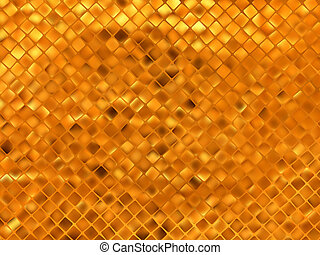 Orange gold mosaic background. EPS 8 vector file included