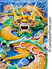dragón, Thean, Hou, templo, Kuala, lumpur, (Malaysia)