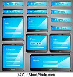 Web Form Template - illustration of set of web form template...