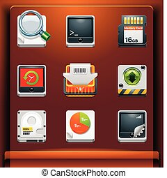 System tools - Mobile devices apps/services icons. Part 8 of...