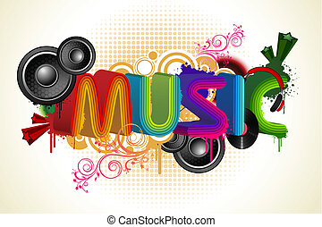 Musical Background - illustration of abstract musical...