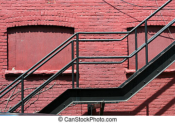 Fire escape on the side of a building