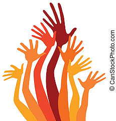 Happy hands and arms vector. - Happy hands and arms vector...