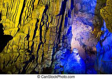 Flute cavern in Guiling, China