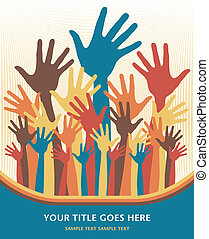 Happy hands design - Happy hands design vector
