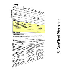 tax form isolated, tax paying
