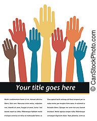 Hands in the air vector - Hands in the air vector design