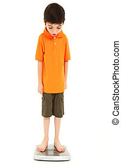 Childhood Onset Anorexia - Adorable eight year old boy on...