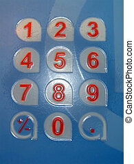colorful plastic numbers concept - focus on center. new...