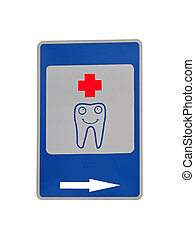 tooth medical cure concept - tooth medical sign isolated on...