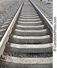 railway metallic transportation concept - metallic rail way...