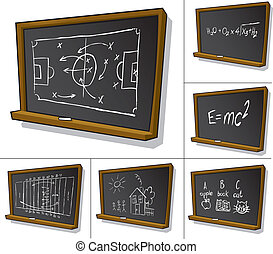 Cartoon Blackboard with writing