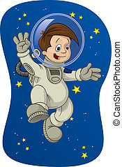 Space Kid 1 - The joys of outer space, as experienced by the...